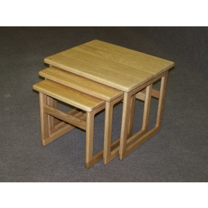 Anbercraft 02 Wooden Top Large Nest of Tables-0