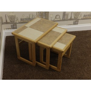 Anbercraft Tiled Top Large Nest of Tables