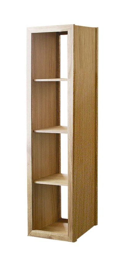 Warwick Oak WN417 Tall Narrow Bookcase