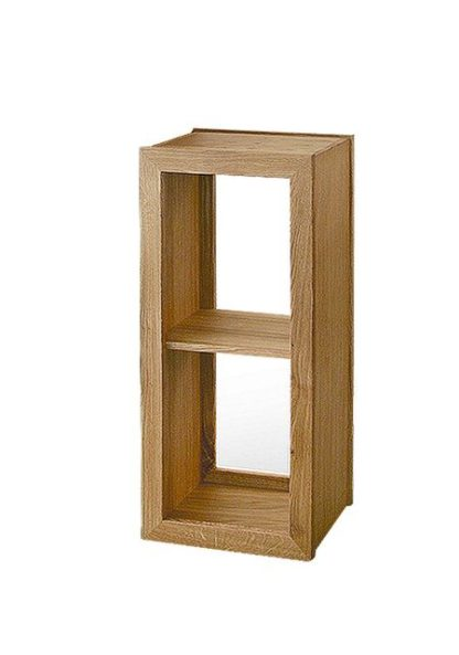 Warwick Oak WN492 Low Narrow Bookcase