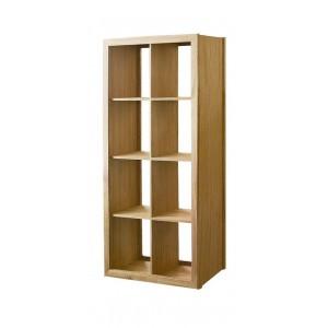 Warwick Oak WN817 Tall Wide Bookcase