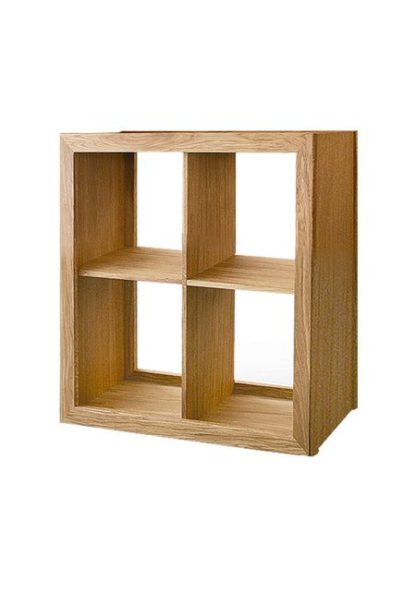 Warwick Oak WN892 Low Wide Bookcase