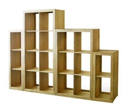 Warwick Oak WN813 Wide Bookcase-2515