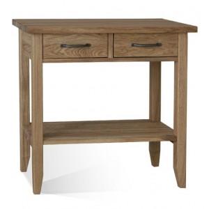 Warwick Oak WN58S Small Console Table with shelf-0