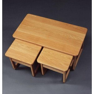 Anbercraft Solid Top Lounge Nest of Tables