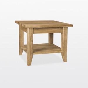 Warwick Oak WN301S Lamp Table with shelf