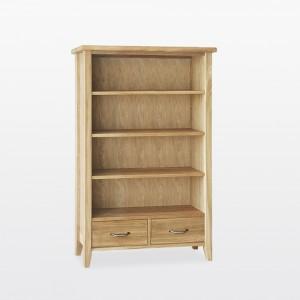 Warwick Oak WN4 Bookcase 2 Drawers