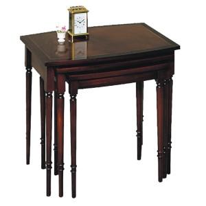 Bradley Mahogany 578 Nest of Tables Barrel Top-0