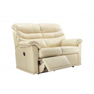 G Plan Malvern Leather 2 Seater Recliner Sofa