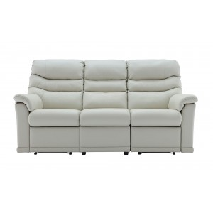 G Plan Malvern Leather 3 Seater Recliner Sofa