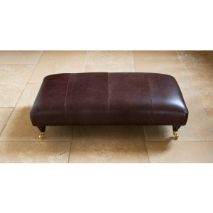 Parker Knoll Winchester Footstool in Leather-0