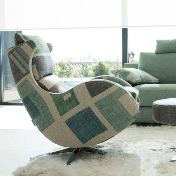 Lenny Chair in fabric