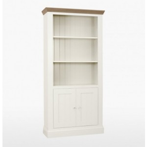 Cello Oak/Painted CL505 Bookcase with 2 Doors-0