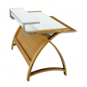 Poise Computer Desk in Oak