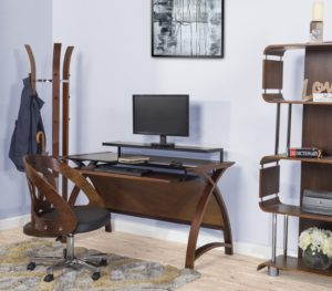 Poise Office Furniture in Walnut