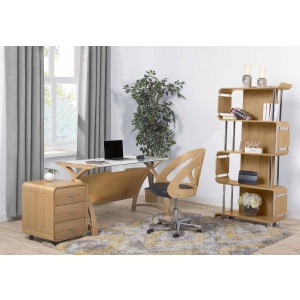 Poise office furniture in oak 2