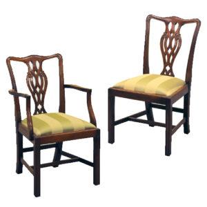Bradley Mahogany 944 Ribbon Back Chair-44086