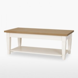 Cello Oak/Painted CL117 Coffee Table (Tapered Legs)-0