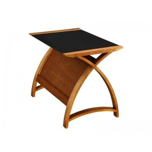 Poise Laptop Table in Walnut