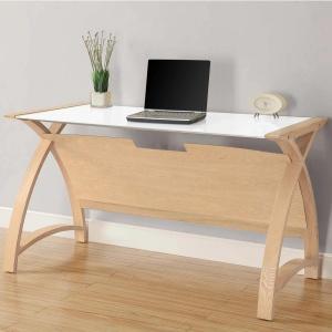 Poise Wide Laptop Desk in Oak