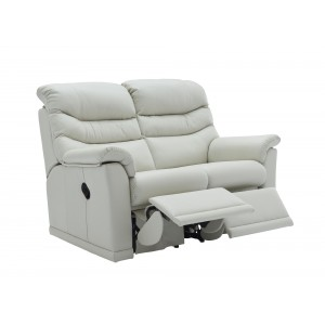 G Plan Malvern Leather Double Recliner Sofa