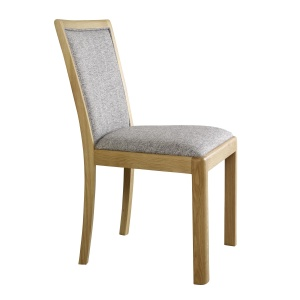 Bergen Upholstered Dining Chair in Grey fabric