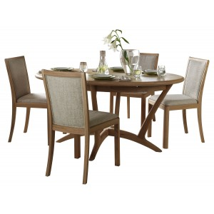 Bergen Oval Extending Table with upholstered chairs