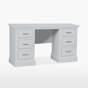 Cello Painted CL850 Double Pedestal Dressing Table-0