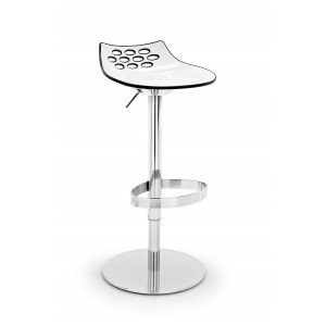 Calligaris Jam Stool with chromed base