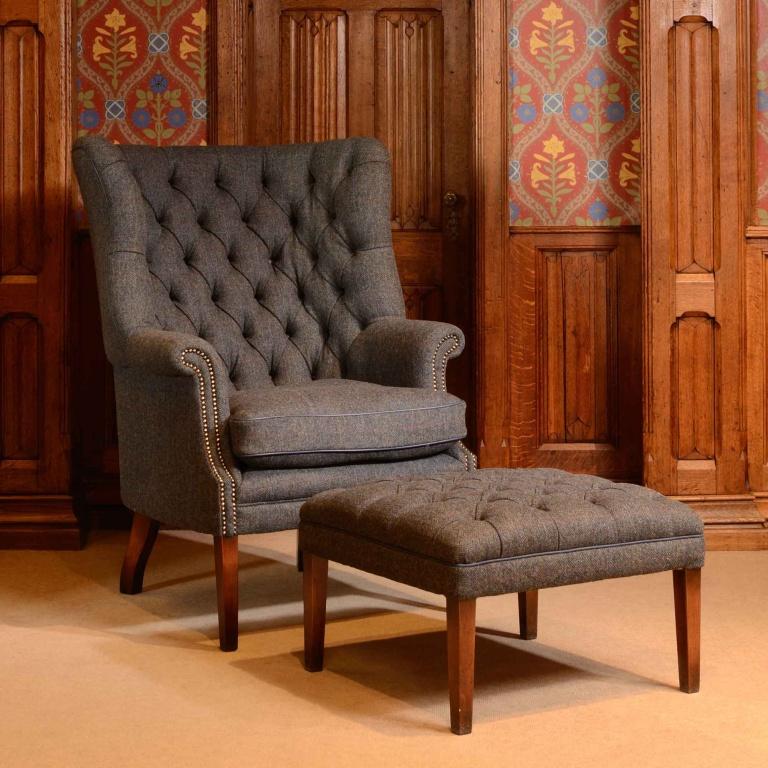 Tetrad Harris Tweed Mackenzie Chair & Stool