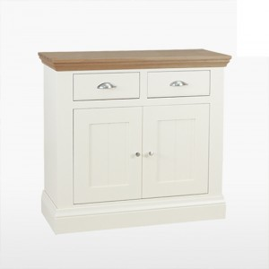 Cello Oak/Painted CL517 Small 2 Door 2 Drawer Sideboard