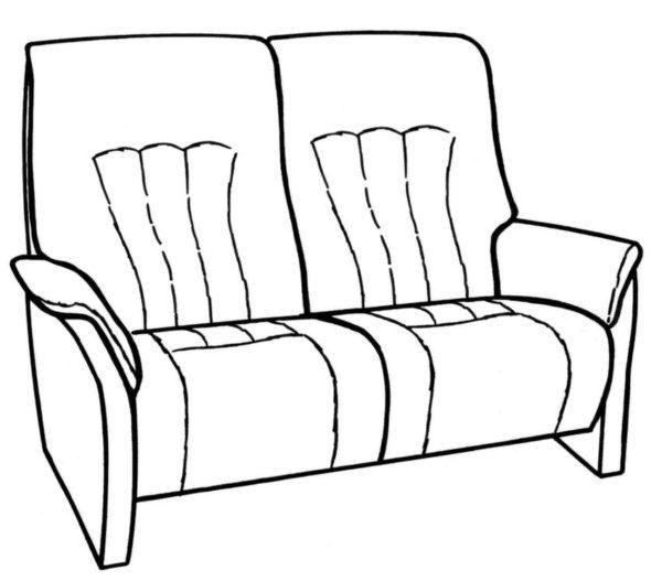 Himolla Rhine 2.5 Seater Fixed Sofa-29665