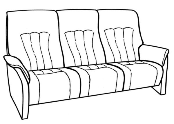 Himolla Rhine 3 Seater Fixed Sofa-29660