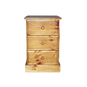 Somerset 3 Drawer Bedside Chest