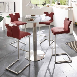 Derby Bar Stools in red