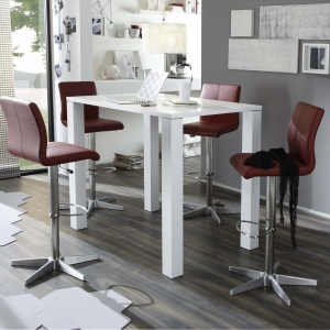 Derby Bar Stools in red 52 frame