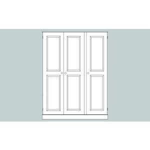 Somerset 3 Door Full Length Triple Wardrobe-0