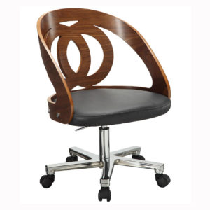 Poise Office Chair in walnut