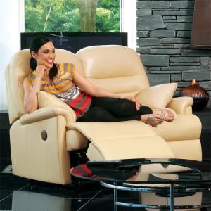 Keswick Standard Manual Reclining 2 Seater Sofa in leather-0