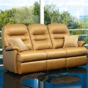 Keswick Standard Manual Reclining 3 Seater Sofa in leather-0