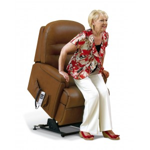 Keswick Standard Single Motor Electric Lift & Rise Recliner in leather-0