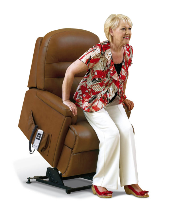 Keswick Standard Dual Motor Electric Lift & Rise Recliner in leather-0