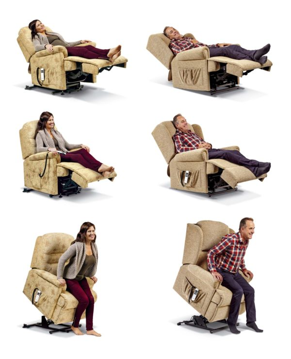 Keswick Standard Dual Motor Electric Lift & Rise Recliner in leather-41064