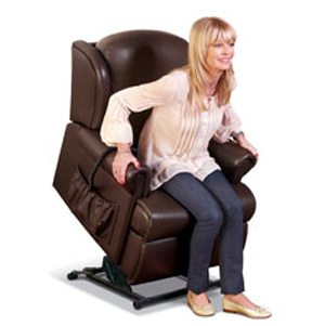 Madrid Standard Single Motor Electric Lift & Rise Recliner in leather-40897