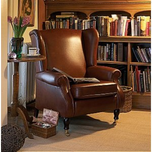 Parker Knoll York Wing Chair in leather-0