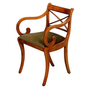Bradley Mahogany 275 Cross Stick Carver Chair-0