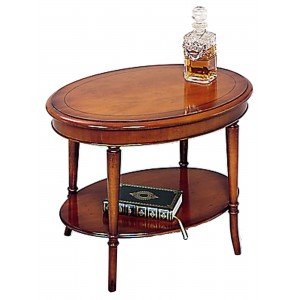 Bradley Yew 377 Small Oval Lamp Table-0