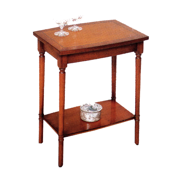 Bradley Mahogany 673 Barrel Top Lamp Table-44137