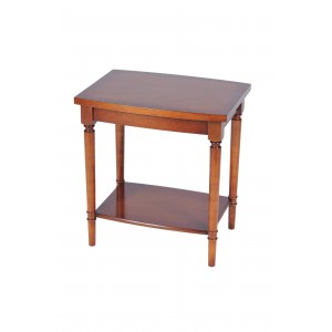Bradley Mahogany 673 Barrel Top Lamp Table-0