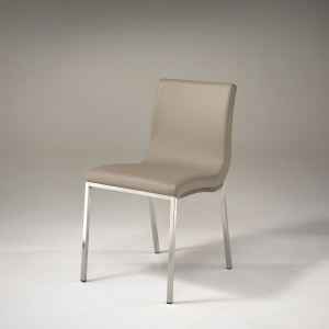 Audrey Dining Chair in Taupe angled